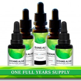 A full year supply of Oceans Alive Raw Phytoplankton