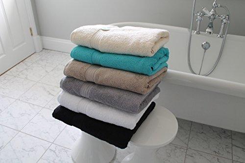 Cazsplash 650gsm High Quality Bath Sheet Towels, Organic Cotton, Teal, 90 x 170 cm
